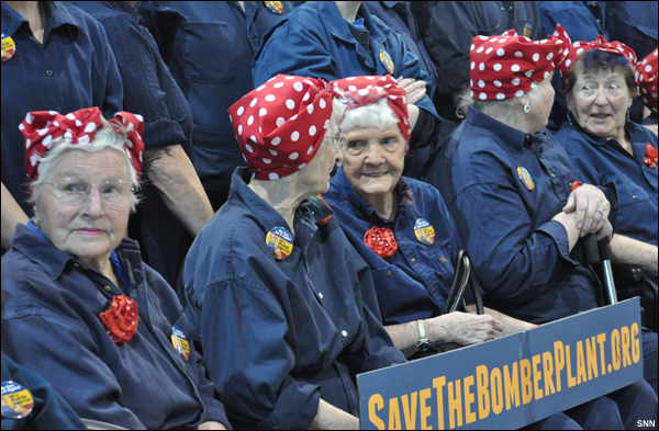Original Rosies pictured at March 29, 2014 rally